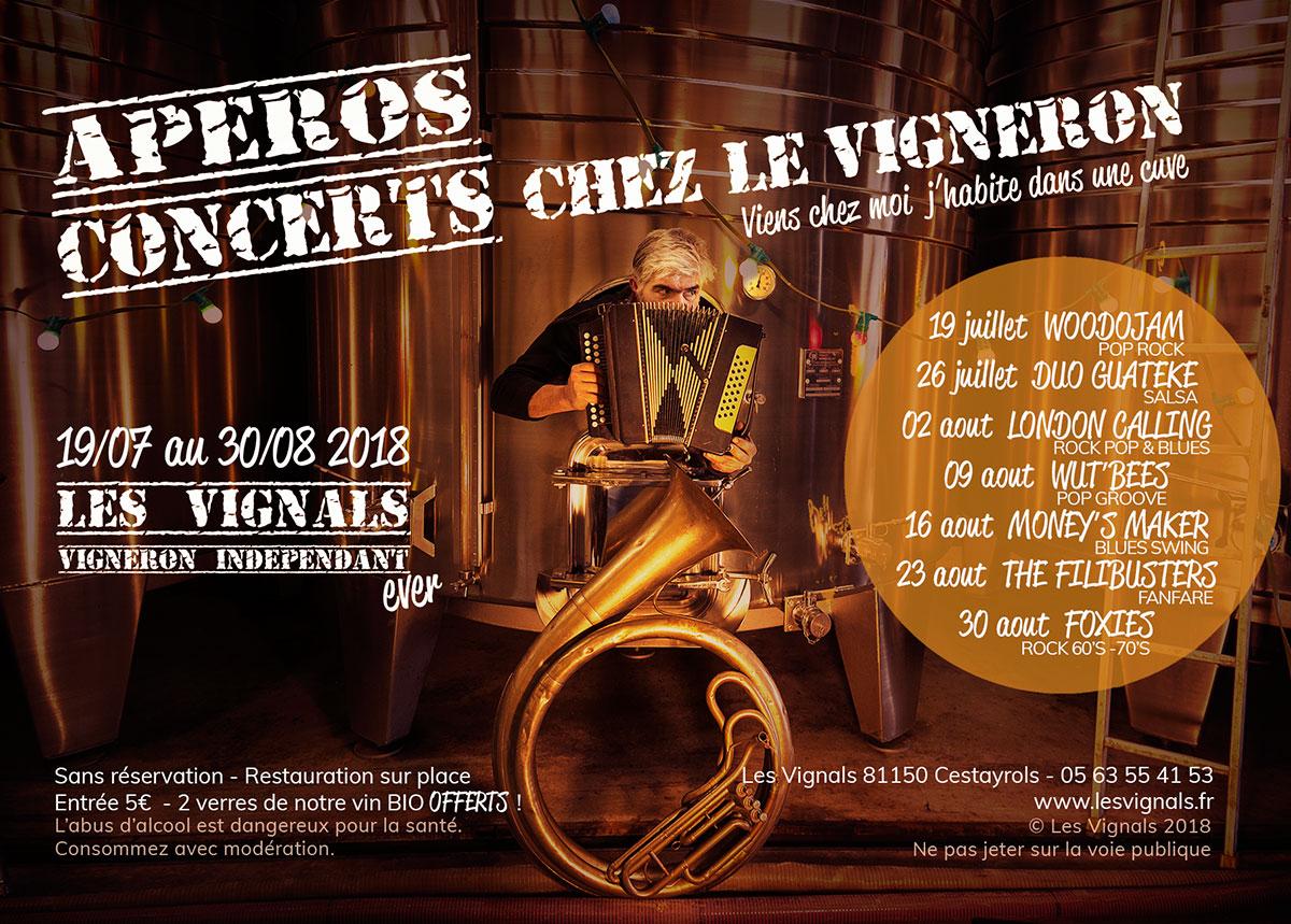 Apéros Concerts chez le Vigneron !!!