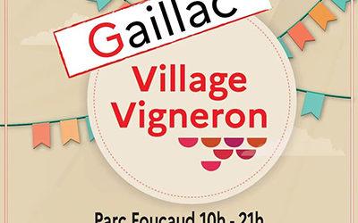 Retrouvez-nous au Village Vigneron !